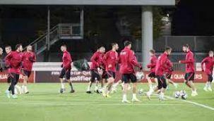 A Milli Takım, Letonya maçı hazırlıklarını tamamladı