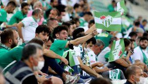Bursaspor'un maçına 19 bin 961 taraftar geldi