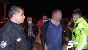 Polisin 'dur' ihtarına uymadı, yakalanınca da özür diledi
