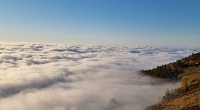 Trabzon'da bulut denizi manzarası